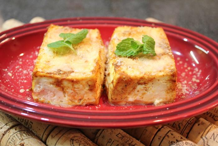 タンドリー豆腐に大根のリボンサラダ。春キャベツのゴルゴンゾーラソース。_a0223786_14593444.jpg