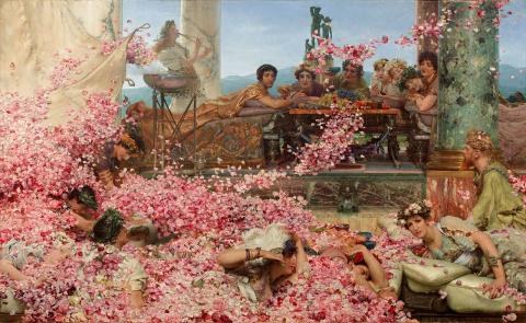 巨匠の《バラの絵》シリーズ:アルマ=タデマ《ヘリオガバルスのバラ》_e0356356_17072874.jpg