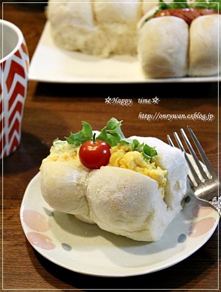 白パンちぎりサンドで朝ごパン♪_f0348032_18112573.jpg