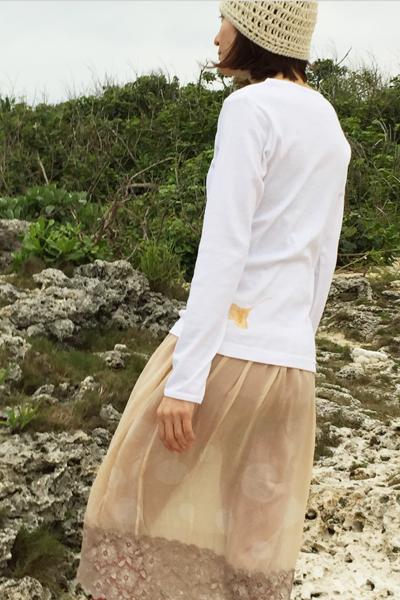 イチョウ 長袖カットソー ホワイト (1728,1726)_e0104046_17194155.jpg
