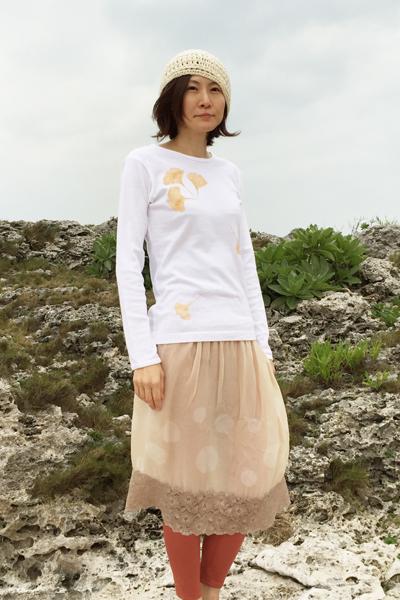イチョウ 長袖カットソー ホワイト (1728,1726)_e0104046_17206100.jpg