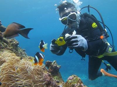 シュノーケルと体験ダイビングで青の洞窟へ!_a0156273_17350124.jpg