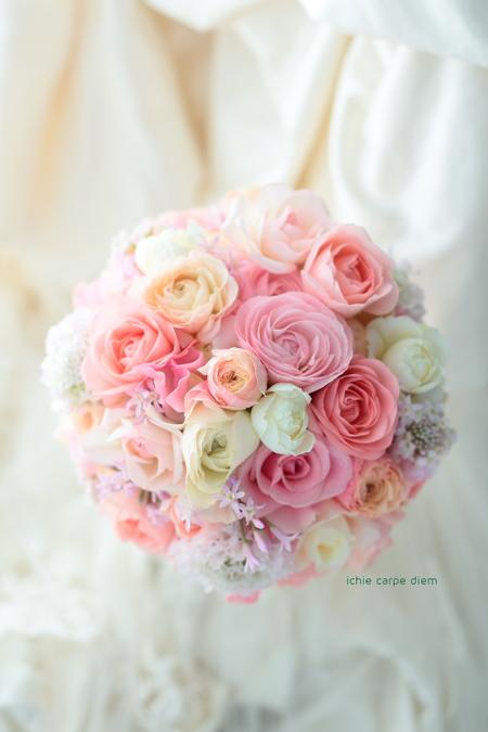 ラウンドブーケ リストランテASO様へ 春のピンク、春の花のブーケ_a0042928_1033756.jpg
