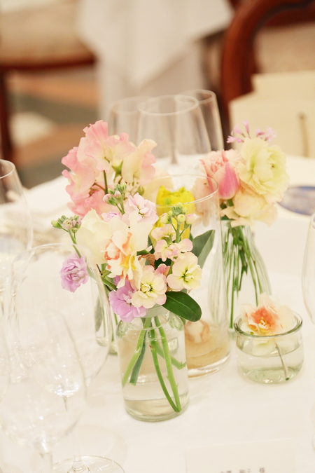 春の装花 リストランテASO様へ 春の花でおまかせで_a0042928_110283.jpg