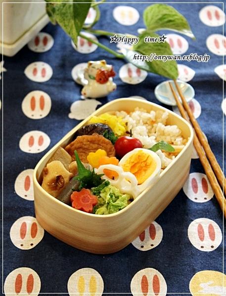 おでん入り弁当と常備菜とイチゴのババロア♪_f0348032_18515977.jpg