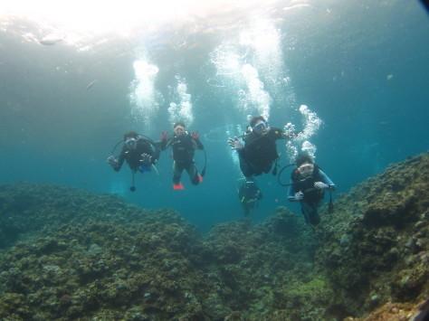 3月6日幼馴染グループで青の洞窟体験ダイビング_c0070933_20555277.jpg