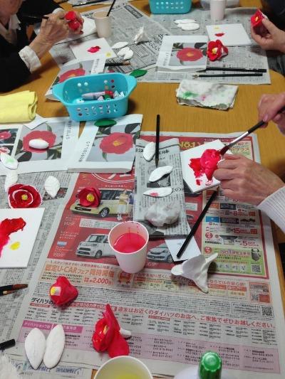 粘土工作教室  つばき 着色編_f0072976_190194.jpg