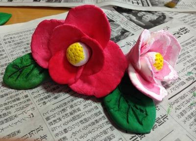 粘土工作教室  つばき 着色編_f0072976_191490.jpg