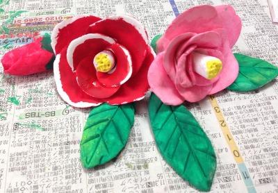 粘土工作教室  つばき 着色編_f0072976_1922054.jpg