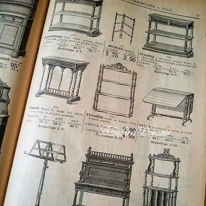 家具のアンティークカタログと資材の組み合わせ。。_c0178104_11204161.jpg