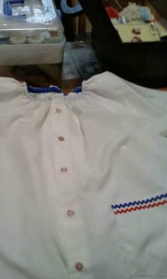 孫の白衣作ってます。_d0026905_916415.jpg