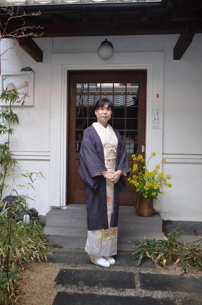 羽織に華やかな訪問着で、卒業式へ_d0230676_15183965.jpg
