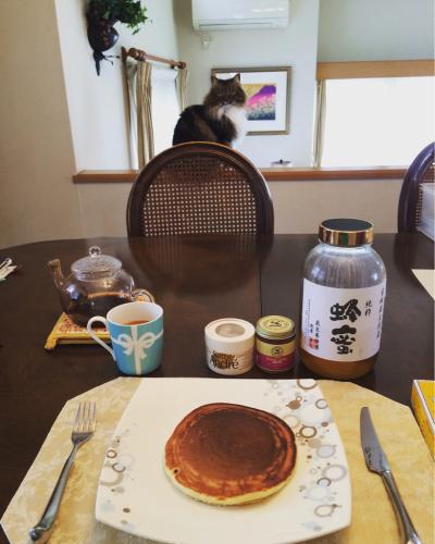 家でホットケーキ☆_c0151965_12425954.jpg