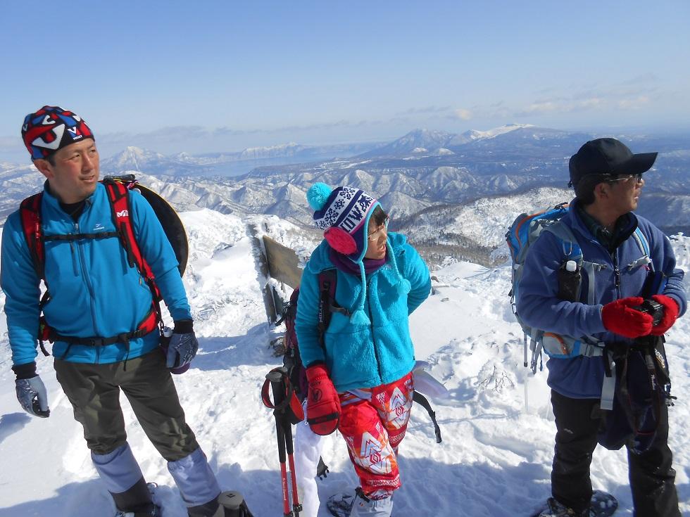 徳舜瞥山、ホロホロ山、オロオロ山、3月5日-同行者からの写真-_f0138096_14114997.jpg