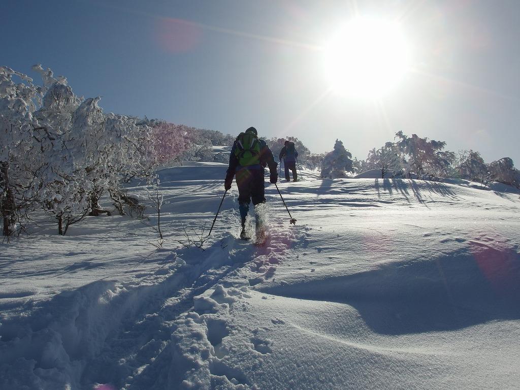 徳舜瞥山、ホロホロ山、オロオロ山、3月5日-同行者からの写真-_f0138096_1412355.jpg