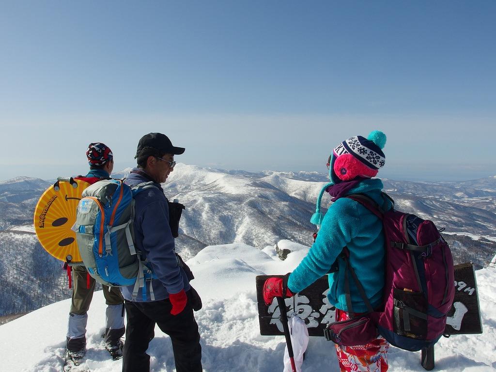 徳舜瞥山、ホロホロ山、オロオロ山、3月5日-同行者からの写真-_f0138096_14125140.jpg
