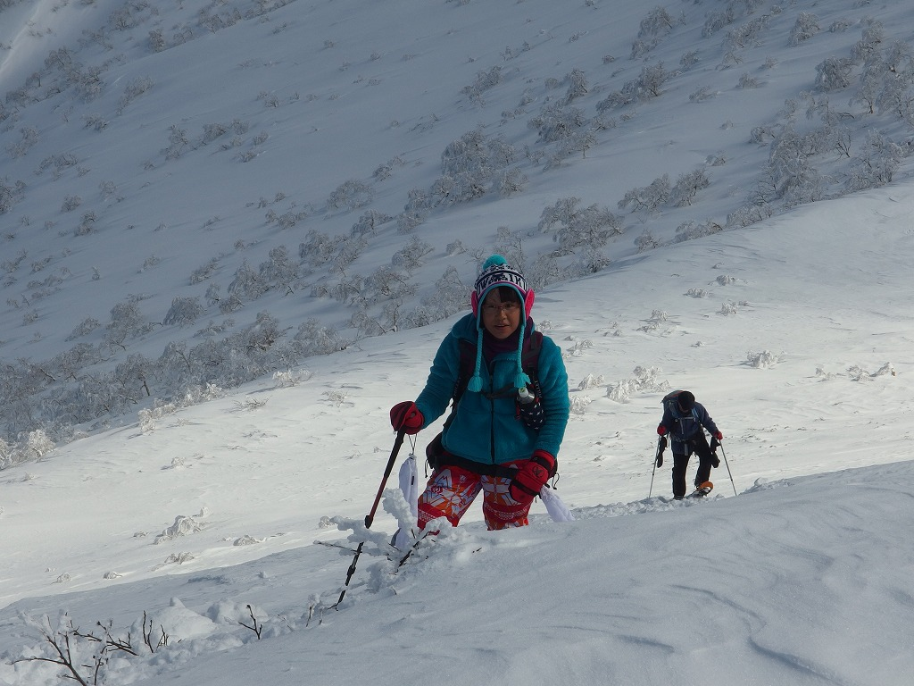 徳舜瞥山、ホロホロ山、オロオロ山、3月5日-同行者からの写真-_f0138096_14133349.jpg
