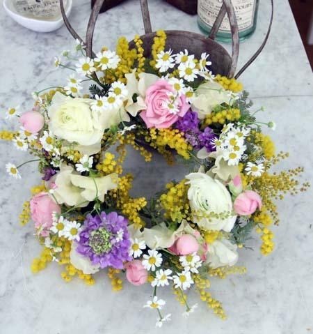 『春色フラワーリース』レッスン in 浜松_f0134809_00154634.jpg