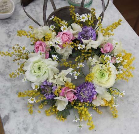 『春色フラワーリース』レッスン in 浜松_f0134809_00160236.jpg