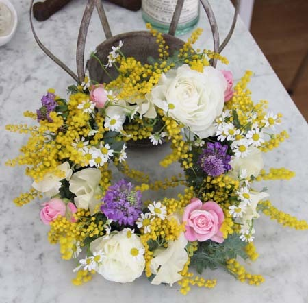 『春色フラワーリース』レッスン in 浜松_f0134809_00161134.jpg