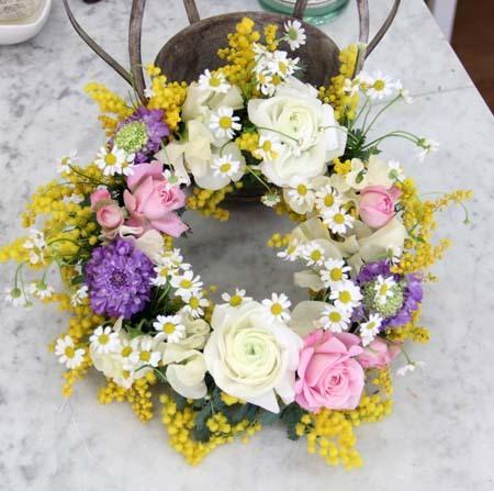 『春色フラワーリース』レッスン in 浜松_f0134809_00164487.jpg