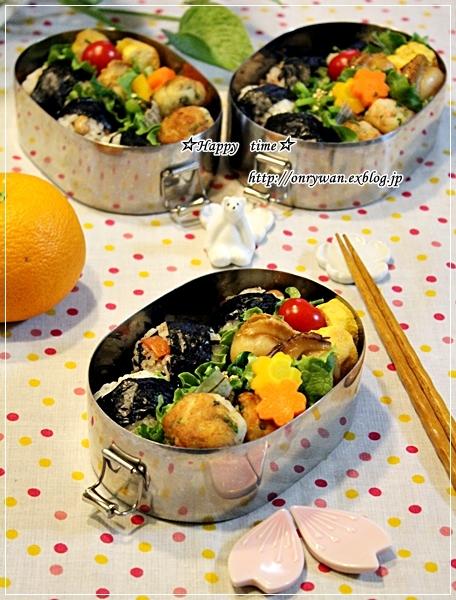 ひじき煮でおにぎり弁当♪_f0348032_17465463.jpg