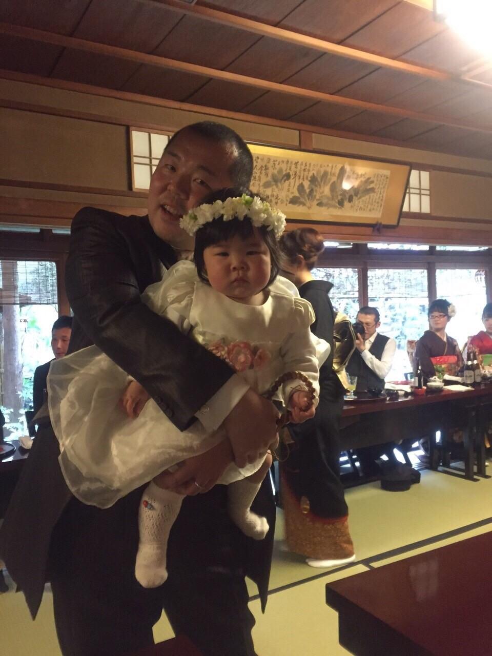 新郎新婦様からのメール 赤ちゃんへ、手作りの花かんむりと一緒に 京都まで_a0042928_1256959.jpg