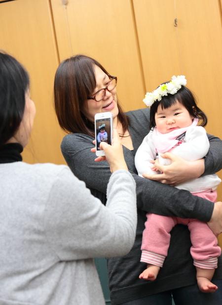 新郎新婦様からのメール 赤ちゃんへ、手作りの花かんむりと一緒に 京都まで_a0042928_1324869.jpg