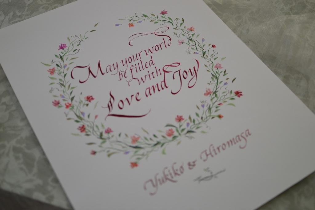 結婚のお祝いのウェルカムボード_b0105897_01384889.jpg