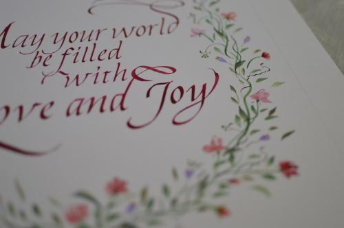 結婚のお祝いのウェルカムボード_b0105897_01505355.jpg