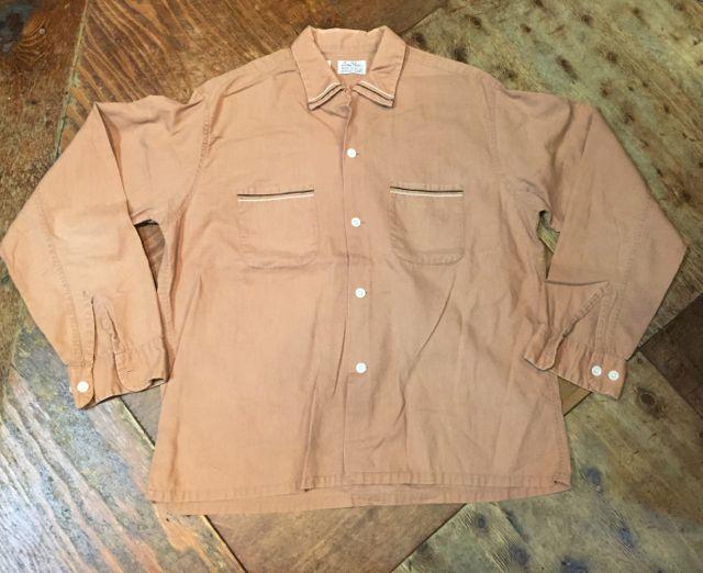 3月12日(土)入荷!50s コットン オープンカラーボックスシャツ!_c0144020_1421158.jpg