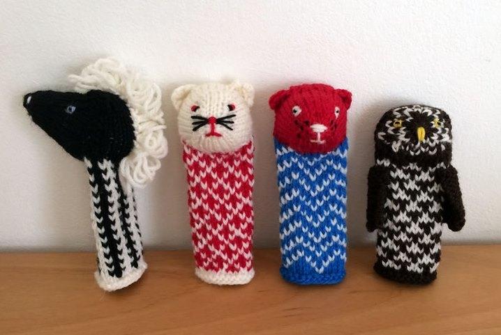 mooli 「北欧テイストの編み込みこもの」出版記念 動物のフィンガーパペット_d0240728_15280690.jpg