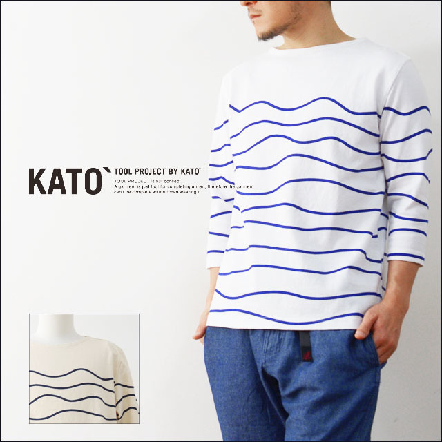 KATO\'[カトー] WAVE BORDER CUT&SEWN [KC610641] MEN\'S_f0051306_15082014.jpg