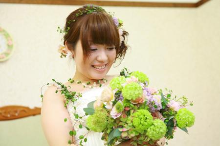 新郎新婦様からのメール 2011年3月12日に長野まで届けたブーケ_a0042928_12431115.jpg