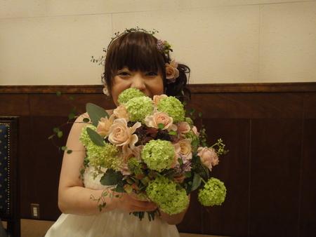 新郎新婦様からのメール 2011年3月12日に長野まで届けたブーケ_a0042928_13192351.jpg