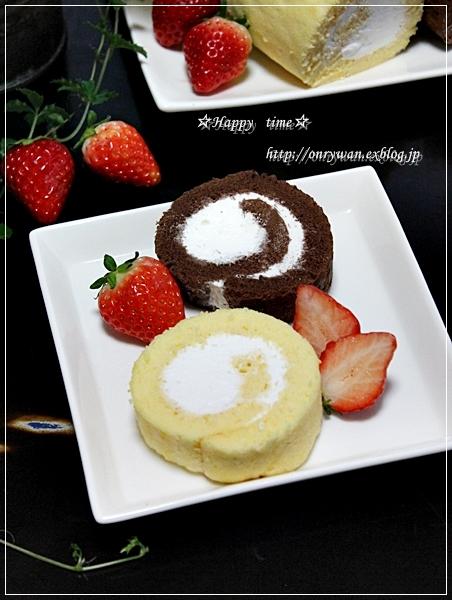 ロールケーキと常備菜♪_f0348032_18310341.jpg