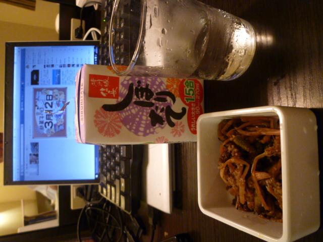 天竜川のホテルで「自作土筆料理」?_c0061686_7591588.jpg