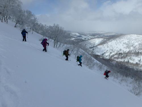 白老岳と北白老岳、3月11日-同行者からの写真-_f0138096_22174524.jpg