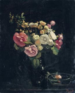 巨匠の《バラの絵》シリーズ: ドラン 《黒の背景の薔薇》_e0356356_16332703.jpg