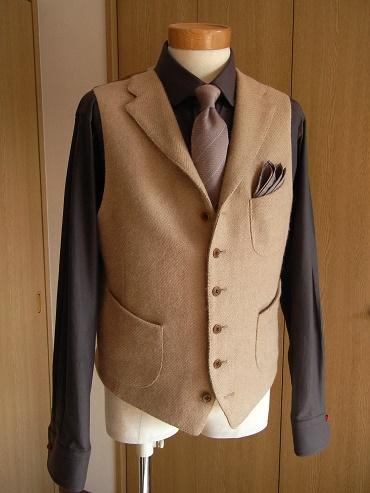 ~HARA KEI Model~ 幻の茶のコートをイマジネーション ~CAMELHAIR Tweed~ 編_c0177259_1302337.jpg