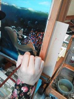 s.ukawaさんライブペイント作品完成しました!個展は3月21日迄_d0322493_2357884.jpg