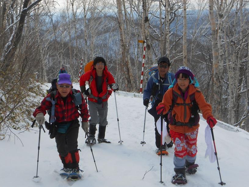 紋別岳から幌平山縦走、3月13日-同行者からの写真-_f0138096_1813286.jpg