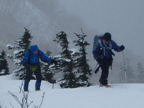 紋別岳から幌平山縦走、3月13日-同行者からの写真-_f0138096_1813336.jpg