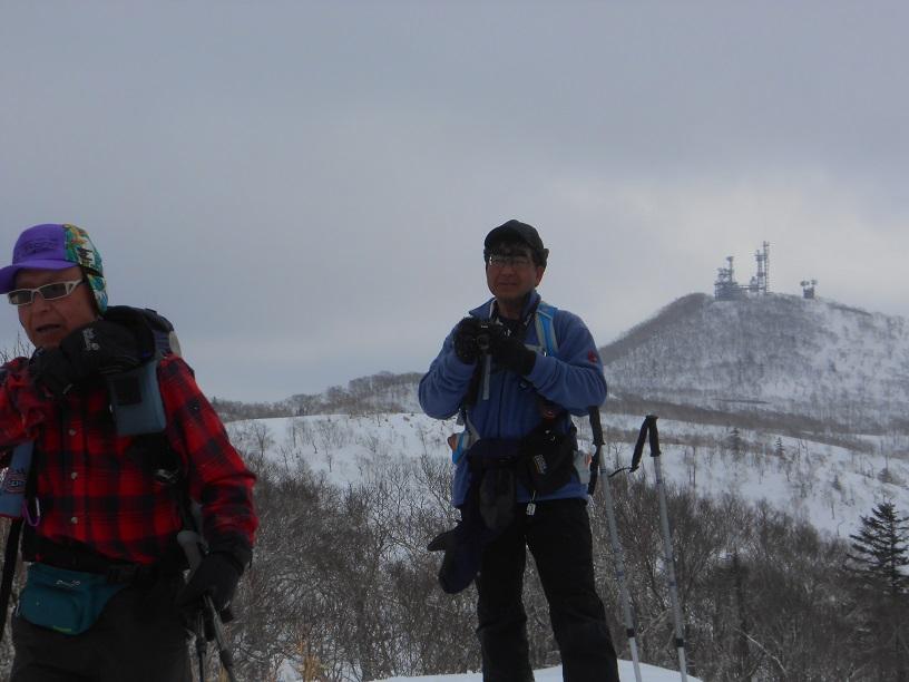 紋別岳から幌平山縦走、3月13日-同行者からの写真-_f0138096_18134644.jpg
