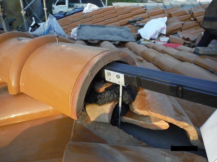 屋根葺き直し、雨樋取替、外壁塗替え ~強化棟。_d0165368_704448.jpg