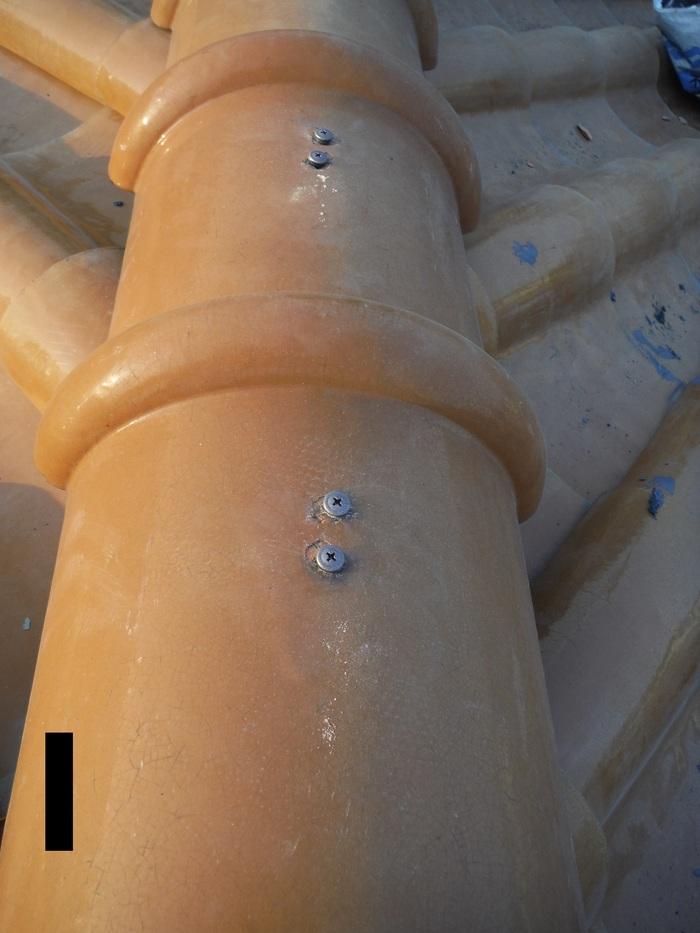 屋根葺き直し、雨樋取替、外壁塗替え ~強化棟。_d0165368_71950.jpg