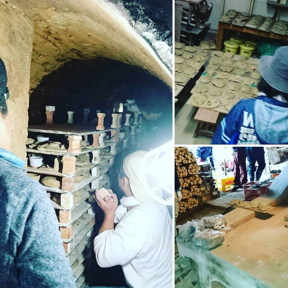 子供の土面の窯つめ作業です_f0229883_10375950.jpg