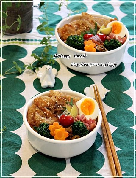 豚の生姜焼き弁当と卒業祝いは鯛めしで♪_f0348032_18455230.jpg
