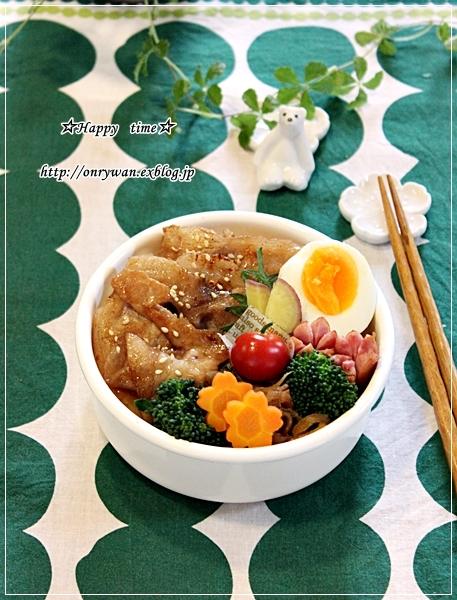 豚の生姜焼き弁当と卒業祝いは鯛めしで♪_f0348032_18460538.jpg