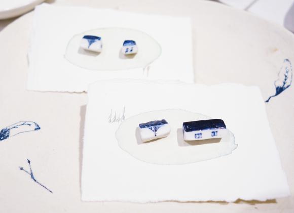 【3/17〜3/29】「白い山 青い林」大島奈王 郷間夢野_b0184796_11340079.jpg